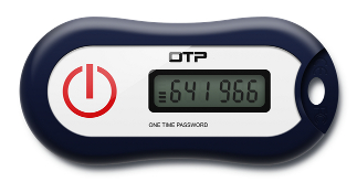 One Time Password OTP token key fob